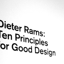 Thumbnail image for Ten Principles for Good Design