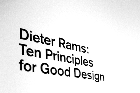 Post image for Ten Principles for Good Design